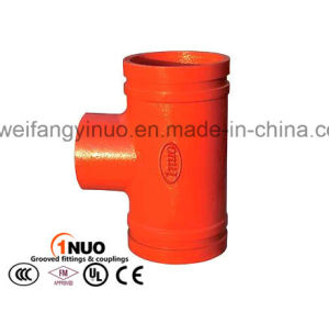 Grooved Pipe Fittings Threaded Reducing Tee with FM/UL/ Ce pictures & photos