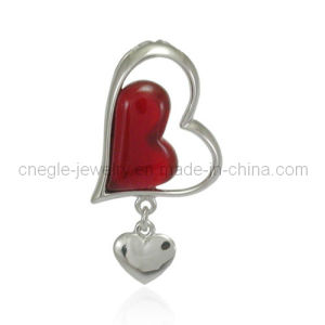 Charming 925 Silver Heart Pendant Agate Pendant Gemstone Pendant