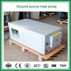 Running-30c Winter Ground Water Derectly to Air Duct Connect Room Grid Heating+Cooling 5kw, 9kw, 18kw Geotermal Air Conditioner pictures & photos