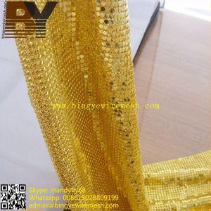 Metal Cloth Curtain/Home Decoration Metallic Cloth/Metallic Fabric/Metal Mesh Curtain pictures & photos