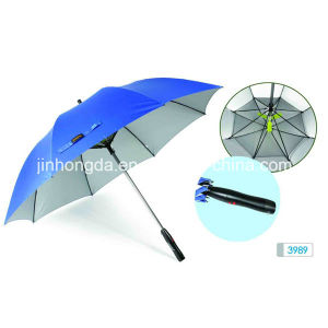 Straight/Outdoor Golf Advertising/Gift Umbrella with Fan and Fibergless Ribs (YSC0002)