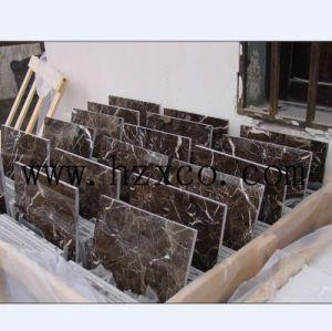 Hzx China Dark Emperador Tiles Floor Tiles pictures & photos
