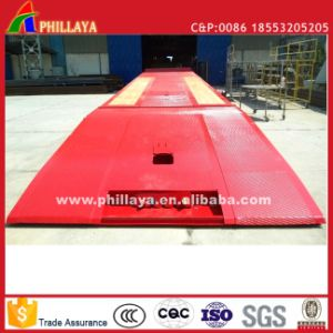 Front Foldable Gooseneck Loading Hydrauli Low-Bed Lowbed Truck Semi Trailer pictures & photos