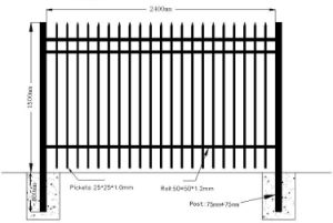 High Quality Wrought Iron Ornaments PVC Coated Iron Fnece, Garden Fence, Backyard Fencing pictures & photos