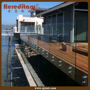 Frameless Glass Railing with Glass Standoff Near Seaside (SJ-S159) pictures & photos