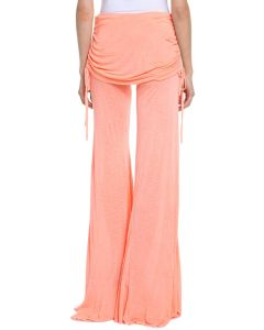 Ladies′ 100%Viscose Slub Pants with Flare Leg (L1)