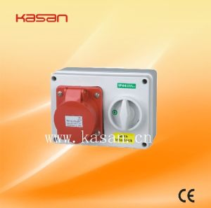 Newest Type Interlock Switch Socket Waterproof Industrial Electrical Plugs and Sockets Switch pictures & photos