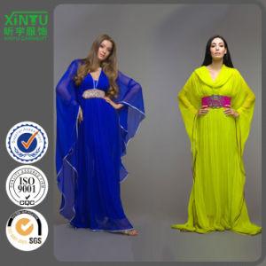 2016 Bat Sleeves Long Chiffon Popular Women Fashion Kaftan pictures & photos