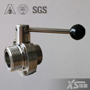 Ss304 Ss316L Sanitary Screw Thread Butterfly Valve pictures & photos