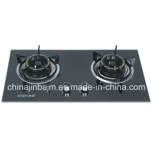 2 Burners Tempered Glass Brass Burner Built-in Hob/Gas Hob pictures & photos