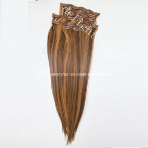 Remy Human Hair Clip in Hair Extension Nhcl-001