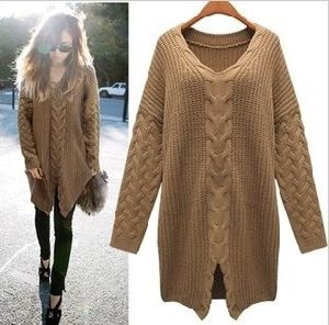 Long Section of Hemp Flowers Woven Slit Sweater (BTQ013) pictures & photos