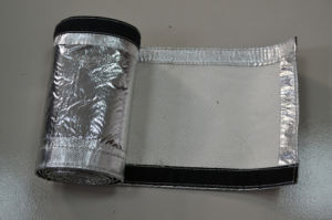 Aluminum Foil Coated Aramid Sleeve with Hook & Loop pictures & photos