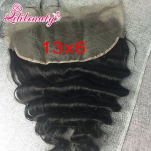 Loose Wave Remy Hair Freestyle Lace Frontal with Baby Hair pictures & photos