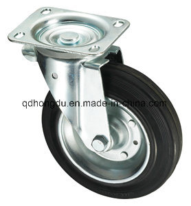 Black Rubber Industrial Castor Wheel pictures & photos