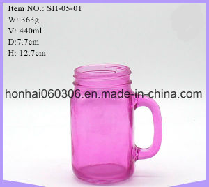 Mason Drinking Jar Mugs Pink pictures & photos