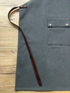 Heavy Duty Uility Custom Waxed Canvas Leather Work Apron Wholesale pictures & photos