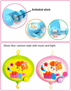 B/O Baby Toys 2015 Musical Bed Ring Plastic Baby Rattle 10214174 pictures & photos