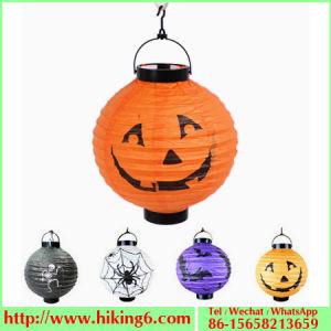Halloween Lantern with LED Lights, Pumpkin Lantern, Paper Lantern pictures & photos