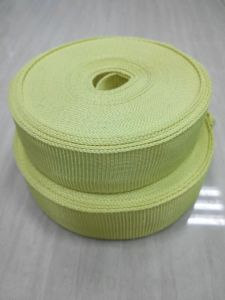 Yellow Aramid Fiber Webbing for Fire Safety Clothing pictures & photos