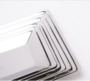 Stainless Steel Square Food Tray for Kitchenware (CS-019) pictures & photos