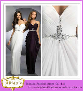 2013 Elegant Custom Made Floor Length Chiffon Sweetheart Beaded Prom Dress for Fat Women (SR44) pictures & photos