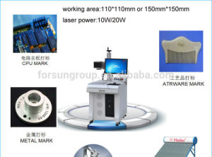 Portable Mini Fiber Laser Marking Machine/Fiber Laser Marking Machine for Sale
