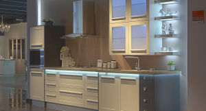 High Quality Floor Standing PVC Kitchen Cabinets (zc-031) pictures & photos