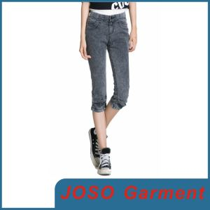 Women Denim Cropped Boyfriend Jeans (JC1056) pictures & photos
