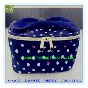 100% Polyester Print Peach Skin Cosmetic Bag