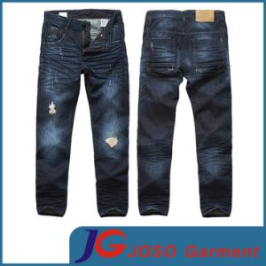 Dark Blue Destroyed Wash Men Jean (JC3240) pictures & photos
