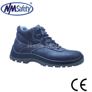Nmsafety Emboss Cow Split Leather Work Protection Shoes pictures & photos