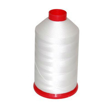 High Quality Raw White Polyester Thread pictures & photos