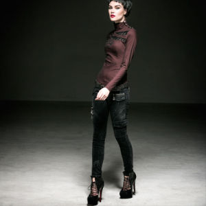Punk Gothic Hot Sale Black Women Pants (K-197) pictures & photos
