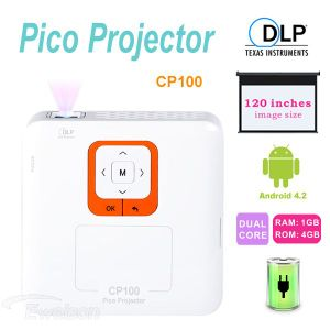 DLP Smart Android Dual Core LED Mini Projector, Your Smart Home Theater (CP100)