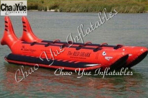 Commercial Island Red Shark Water Banana Boat for Sale (CYBT-1513) pictures & photos