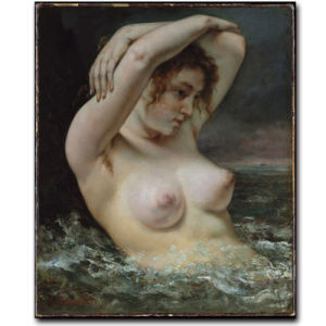 Wholesale High Quality Decoration Oil Painting, Home Decoration Painting, Art Painting (THe woman in the waves) pictures & photos
