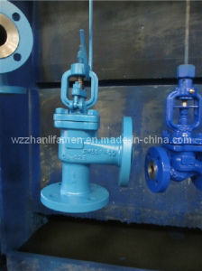 DIN Angle Type Globe Valve Carbon Steel pictures & photos