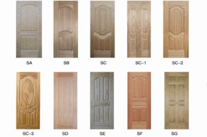 MDF Moulded Veneer Door Skin with Ash Teak Sapeli Oak pictures & photos