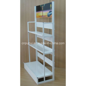 3 Tier Metal Floor Standing Engine Oil Display Stand (PHY3005) pictures & photos