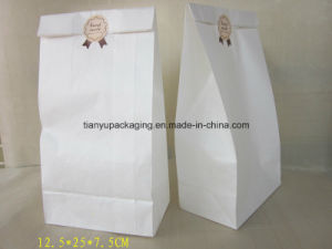 White Greaseproof Paper Bag Bread Packaging Cooked Food Paper Bag pictures & photos
