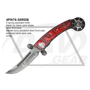 "5"" Closed Folding Fantasy Knife with Twice Anodized (red&black) pictures & photos"