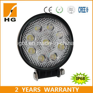 27W 4.6inch 12V Tractor Waterproof IP68 LED Work Light pictures & photos
