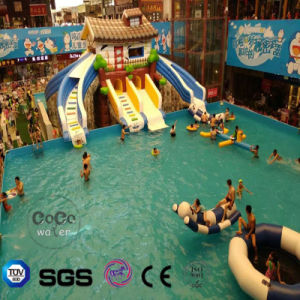 Coco Water Park Inflatable Theme Slider for Swimming Pool