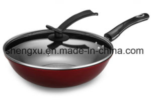 Coated Ceramic Pure Iron Non-Stick Gift Wok Sx-C002 pictures & photos