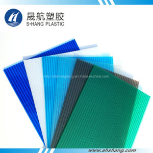 Twin Wall Plastic Polycarbonate Hollow Panel for Building Roof pictures & photos