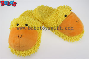 Lady Shoes Plush Stuffed Closed Teo Indoor Slipper in Cartoon Duck Head pictures & photos
