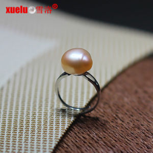 Sterling Silver Pink Real Freshwater Baroque Cultured Pearl Ring (E170004) pictures & photos