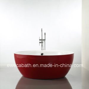 Small Round Bathtub, Red Round Tub, Small Bath, CE And Cupc Approved (