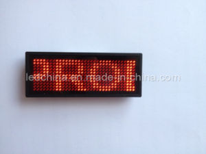 Rechargeable Multi-Language LED Name Badge pictures & photos